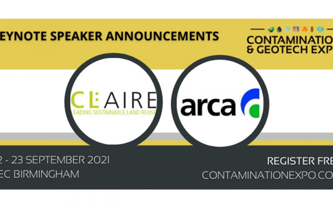Contamination & Geotech Expo 2021: Keynote Speakers Update